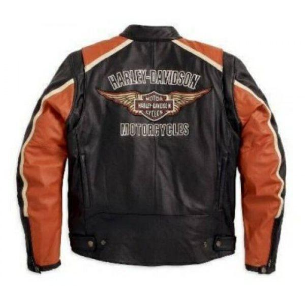 Harley Davidson SAWYER Schwarz Silber Details Leder Herren