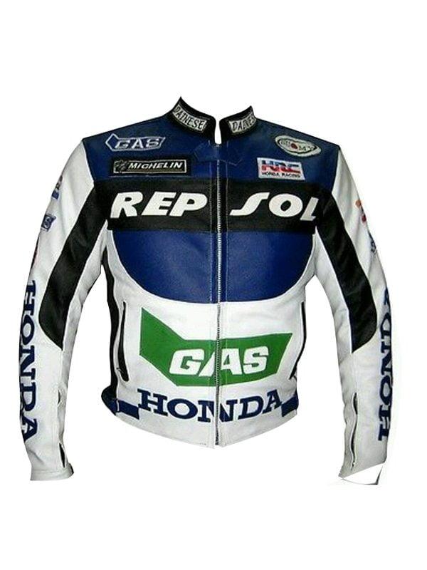 HONDA REPSOL MOTORCYCLE LEATHER JACKET