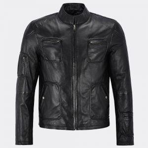 Wearing a Genuine Mens Leather jacket black | Brown